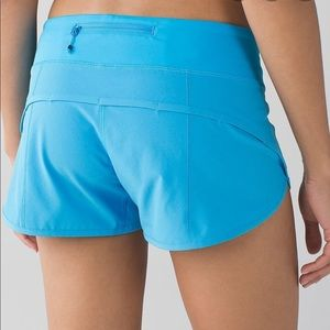 Lululemon Speed Short size 6 Kayak blue